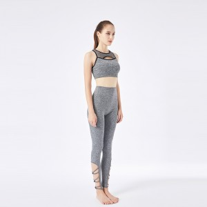Sport bra & yoga wear gray